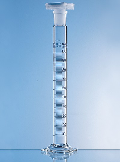 Mixing Cylinder / Measuring Cylinder w/Stopper / 공전실린더, Class A + Batch 보증서