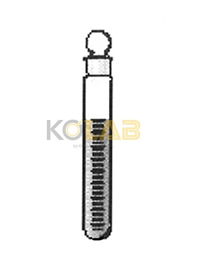 Tube, Test, With stopper, Graduated / 눈금공전시험관