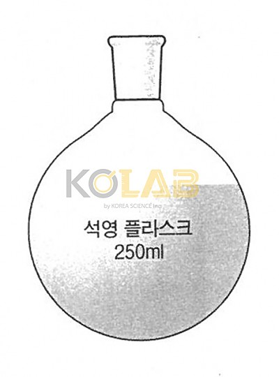 Quartz Round flask, With joint / 석영죠인트플라스크