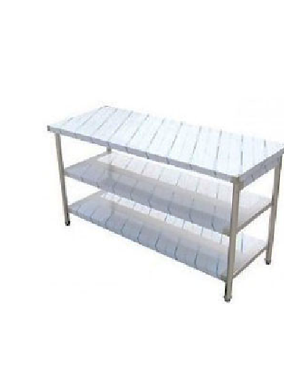 Stainless Type Work Table, 3 Shelves, F.SWT3  / 스테인레스타입작업대, 3단, F.SWT3