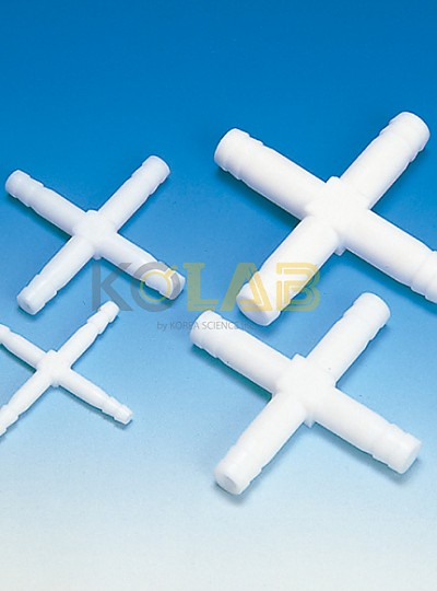 PTFE tubing connectors cross type /  PTFE튜빙커넥터십자타입